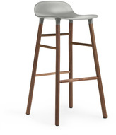 Normann Copenhagen Form Barstool H75cm Grey/Walnut