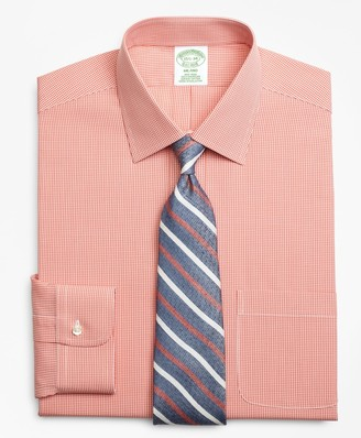 Brooks Brothers Milano Slim-Fit Dress Shirt, Non-Iron Micro-Framed Gingham