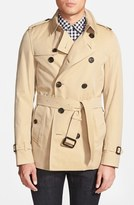 Burberry 'Sandringham' Short Double Breasted Trench Coat