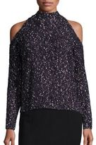 Rebecca Taylor Cold-Shoulder Boucle Top