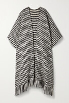 Thumbnail for your product : Gabriela Hearst + Net Sustain Gasly Fringed Cashmere-jacquard Wrap - Gray