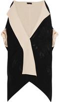 Donna Karan Canvas And Wool-blend Jacquard Kimono Jacket - Black