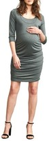 Maternal America Women's Ruched Maternity Dress