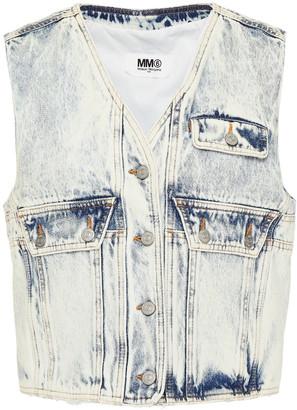 MM6 MAISON MARGIELA Distressed Bleached Denim Vest