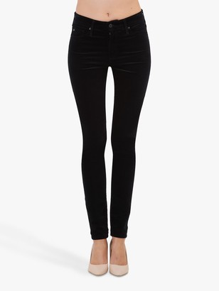 AG Jeans The Farrah High Rise Skinny Ankle Jeans, Black