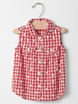 Gap Starry gingham sleeveless shirt