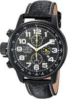 Invicta Men's 'I-Force' Quartz Stainless Steel and Leather Casual Watch, Color: (Model: 90068)