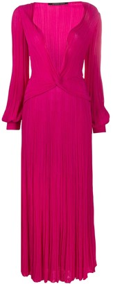 Antonino Valenti Plunge Neck Pleated Dress