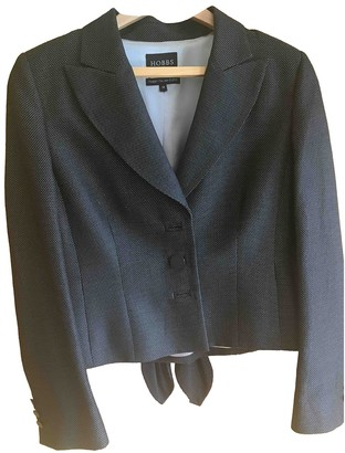 Hobbs Black Cotton Jacket for Women