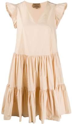Santi ALESSIA flared ruffled-sleeves dress