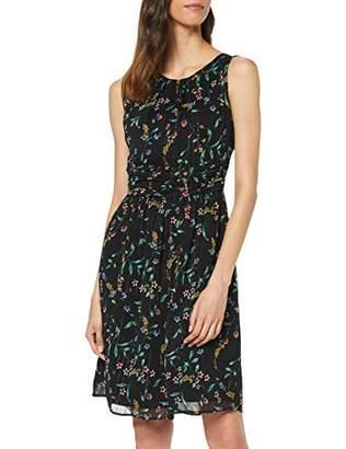 S'Oliver Women's 05.904.82.30 Party Dress, (Black AOP B), 16 (Size: )