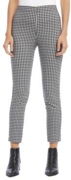 Karen Kane Gingham-Print Skinny Pants