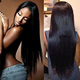 """Cara Brazilian Straight Lace Front Human Hair Wigs 8A Full Lace Human Hair Wigs For Black Women 10-24"""" Human Hair Frontal Lace Wigs (14inch, lace front)"""