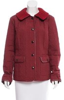 Agnona Cable Knit-Accented Quilted Jacket w/ Tags