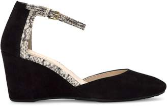 Cole Haan Lara Wedge Suede Ankle-Strap Pumps