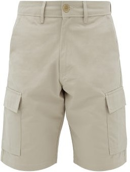 BEIGE Editions M.R - Cotton-gabardine Cargo Shorts - Mens