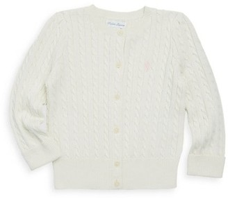 Ralph Lauren Baby Girl's Cable-Knit Cotton Cardigan