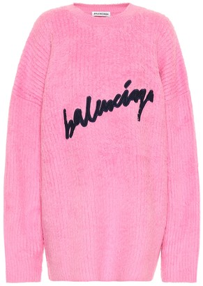 Balenciaga Logo cotton-blend sweater