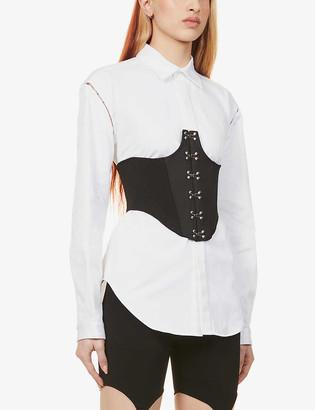 Dion Lee Hook cotton-blend corset