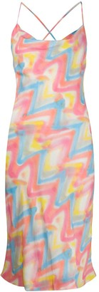 M Missoni Zigzag Print Slip Dress