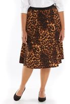 Plus Size Loramendi Textured A-Line Skirt