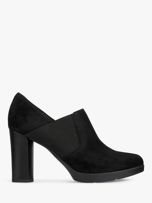 Geox Women's Anylla Suede Shoe Boots, Black