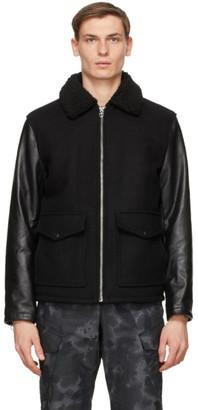 Rag & Bone Black Schott NYC Edition Leather Deck Jacket