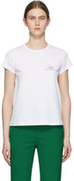 Givenchy White Crystal Floral Logo T-Shirt