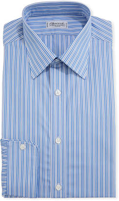 Charvet Men's Shadow-Stripe Cotton Dress Shirt