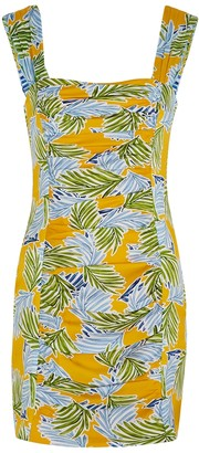 Bec & Bridge Palm Paradise Printed Silk-satin Mini Dress