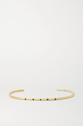 Octavia Elizabeth Net Sustain Nesting Gem 18-karat Gold Emerald Cuff