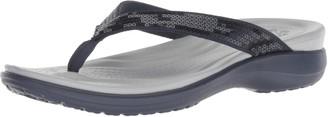 Crocs Women's Capri V Sequin Flip Flop Sandals