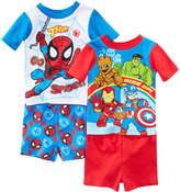 Marvel Marvel's Superhero Adventures 4-Pc. Cotton Pajama Set, Toddler Boys
