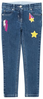 Stella McCartney Kids Badge Embroidered Skinny Jeans (3-14+ Years)