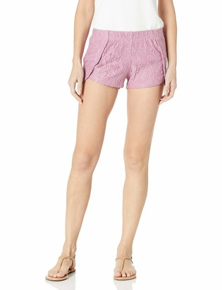 Derek Heart Women's Lace Tulip Hem Shorts