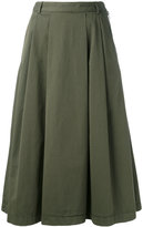 YMC pleat skirt - women - Cotton - 10