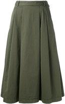 YMC pleat skirt - women - Cotton - 8