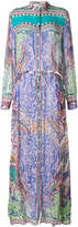 Etro multi-print shirt maxi dress
