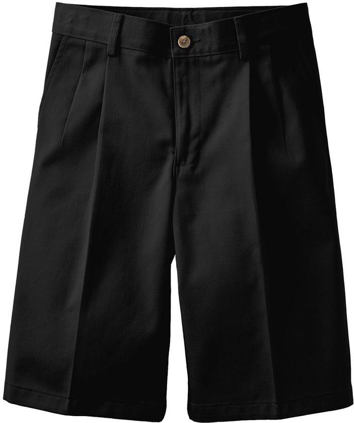 Chaps Boys 8-20 School Uniform Pleated-Front Twill Shorts