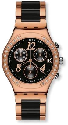 Swatch Quartz Watch Woman Dreamnight Rose YCG404G 40mm