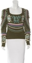 Emilio Pucci Virgin Wool & Cashmere Lace-Up Sweater