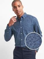 Gap Oxford print standard fit shirt