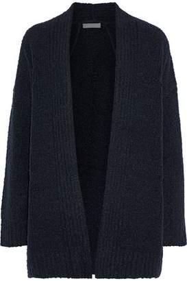 Vince Marled Boucle-knit Wool, Cashmere And Silk-blend Cardigan