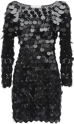 In The Mood For Love Sequined Cotton Crochet Dress
