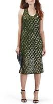 Topshop Embellished Cutout Sleeveless Midi Dress