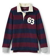 Classic Boys Husky Stripe Rugby-Burgundy/Navy Stripe