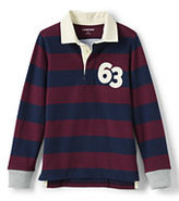 Classic Boys Stripe Rugby-Gray Heather