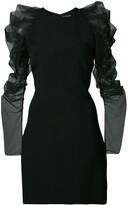 Cushnie ruffle sleeve mini dress