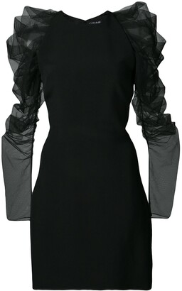 Cushnie Ruffle Sleeve Mini Dress