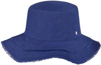 Helen Kaminski Romaine Wavy Linen Bucket Hat
